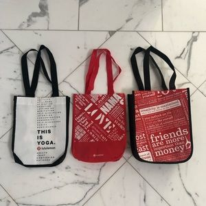 Lululemon Shopping Bags- Set of 3